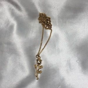 Dangly Rose Necklace